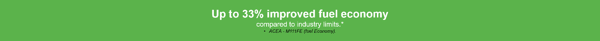 Improved fuel economy
